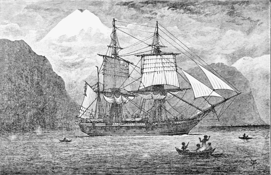 """PSM V57 D097 Hms beagle in the straits of magellan"" by R. T. Pritchett // CC BY 2.0"